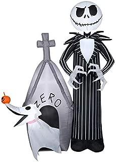 Gemmy 5' Airblown Jack and Zero w/House Disney Halloween Inflatable Scene