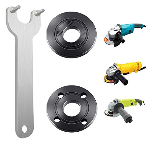 Podoy Grinder Flange Angle Wrench Spanner Metal Lock Nut for Compatible with Dewalt Milwaukee Makita 193465-4 Bosch Black & Decker Ryobi 4.5' 5' 5/8-11