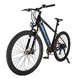 Bicicleta Eléctrica de Montaña de 27,5' 250 W Motor Bicicleta Eléctrica E-MTB 27,5' E-Bike MTB Pedal Assist Shimano 7 Velocidades Hombres Mujeres con Instrumento LCD Central & Autonomía Buena