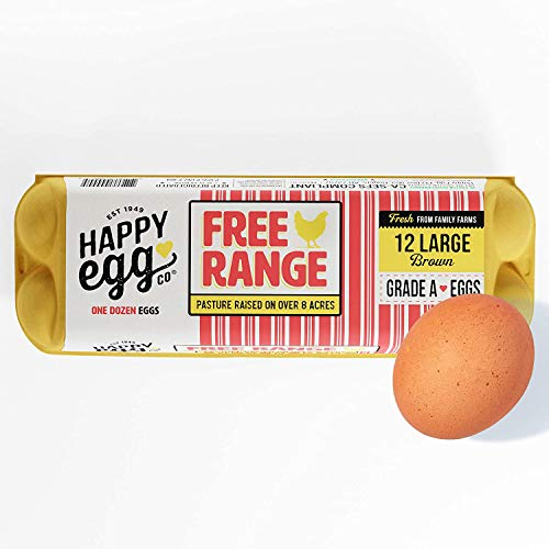 Happy Egg Large Brown Grade A Eggs, Free Range Eggs-12ct