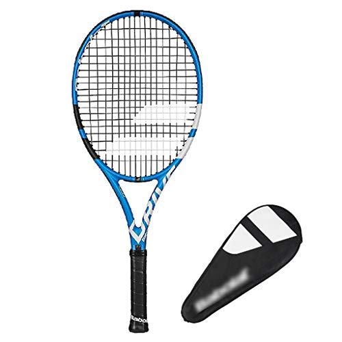 Raquetas Tenis para Niños De Carbono Jóvenes Tenis para Principiantes Tenis De 25 Pulgadas (Color : Blue, Size : 25in)