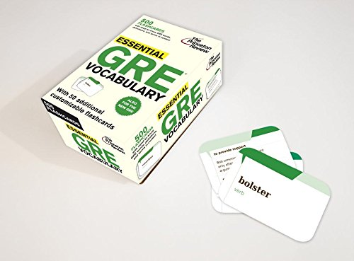 Essential Gre Vocabulary Flashcards 500 Flashcards With Need To Know Gre Words Definitions And Terms In Context Graduate School Test Preparation