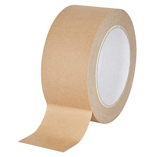 baytronic Papier-Packband Papier Klebeband Packband braun 50m x 50mm, braun (6 Rollen)