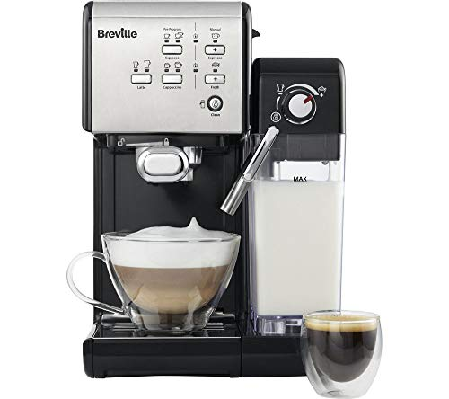 BREVILLE VCF107 One-Touch Coffee Machine (Black & Chrome)