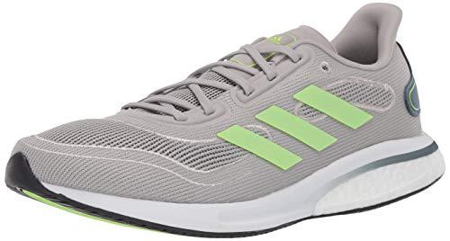 adidas Men's Supernova Running Shoe, Metal Grey/Green/Silver, 8.5 M US