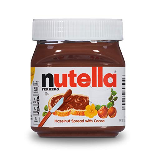 Nutella Chocolate Hazelnut Spread, Perfect Christmas Stocking Stuffer and Topping for Holiday Treats, 13 oz (Packaging May Vary)