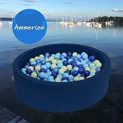 snugo Kinder B ebad AMMERSEE in dunkelblau (Made in Germany) mit über 350 B en a   cm - Spielbad und Ballpool für mädchen und Jungen