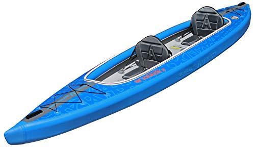 ADVANCED ELEMENTS AirVolution 2 Drop-Stitch Inflatable Kayak, Blue, 2 Person