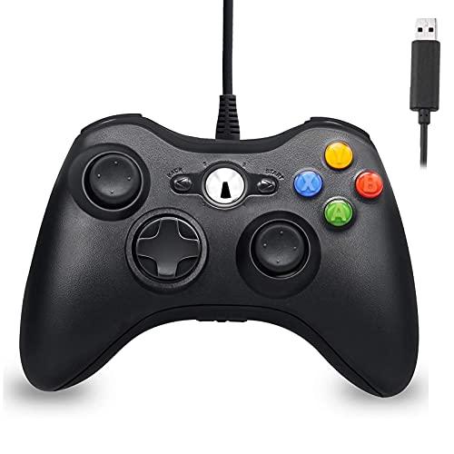 Controlador con cable para Xbox 360, Hovlia USB Game PC Controller con...
