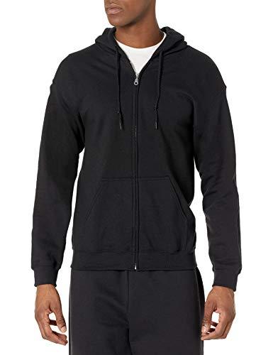 Gildan Men's Fleece Zip Hooded Sweatshirt Black Small