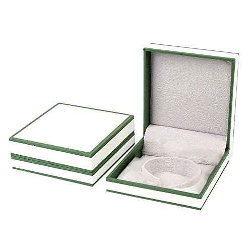 Fablcrew Spezial Papier Schmuckkästchen Anhänger Armband Halskette Box Dunkelgrün Weiß Innerer Plüsch Schmuckkaste