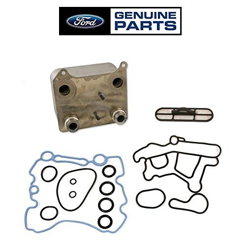 OEM Updated Engine Oil Cooler/Screen/Gasket Kit 3C3Z-6A642-CA Compatible with 2003-2007