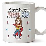 Mugffins Zia Tazza/Mug - Io Amo la mia Super Zia - Idea Regalo Originale di Compleanno - Tazza Migliore Zia in Ceramica. 350 ml