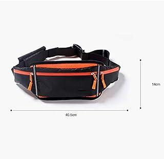 WOYAOFA Sports Pockets Outdoor Running Belt Waterproof Multi-Function Ultra-Light Portable Breathable Waterproof Comfortable and Stable Close (Color : White)