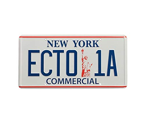 Super6props Ghostbusters 2 ECTO-1A New York Replica Prop License Plate (300mm x 150mm)