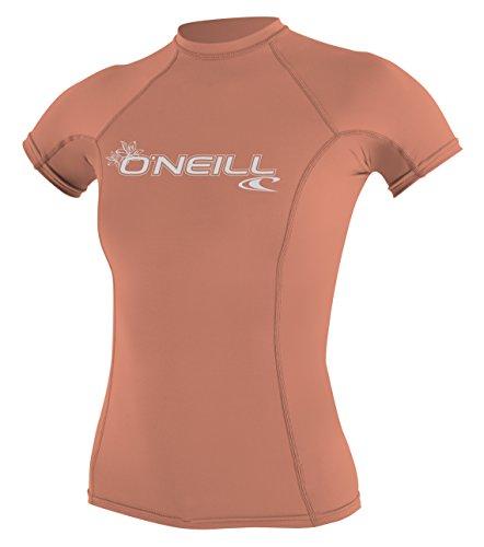 O'Neill Basic Skins - Protector de Sarpullido de Manga Corta para Mujer con UPF 50+, Color Pomelo Claro, XS
