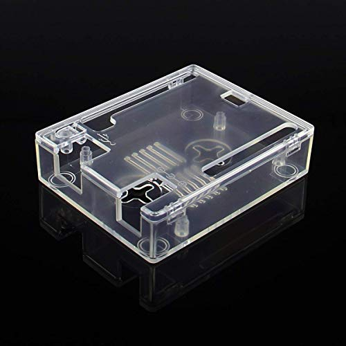 Geekworm UNO R3 ABS Case   Protective Enclosure ABS Computer Box Compatible with Arduino UNO R3- Transparent