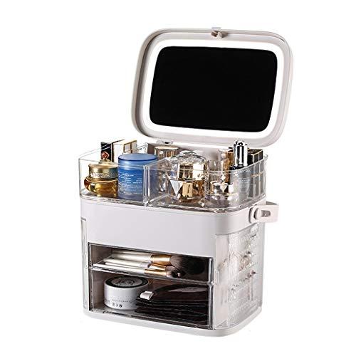 Botes herméticos Rotación de cosméticos joyas caja de almacenamiento ajustable Cosmética Perfume del soporte de exhibición de gran capacidad se puede utilizar for tienda Tocador Dormitorio Baño Botes