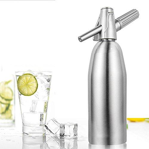 TOP-MAX Carbonating Starter Kit Soda Maker Siphon Carbonated Juice Drinks Sparkling Juice Cocktail Aluminum 34oz / 1L