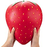 Fidgets Toys Half Jumbo Large Strawberry Fidget Sqishys Squishy Slow Rising Squishies Toys Fidgiting Fruits FiSaingace Milly Stress Relief Decompression Toys For ADHD,EDC,Kids Adults(Half Strawberry)