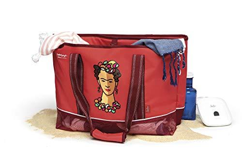 Jata Hogar HPOR7030 - Bolsa térmica con porta toallas, Mediano Rojo