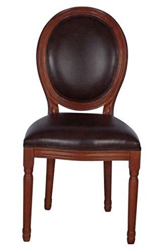 Barockstuhl Louis Navi braun/schwarz Louis XV Stuhl