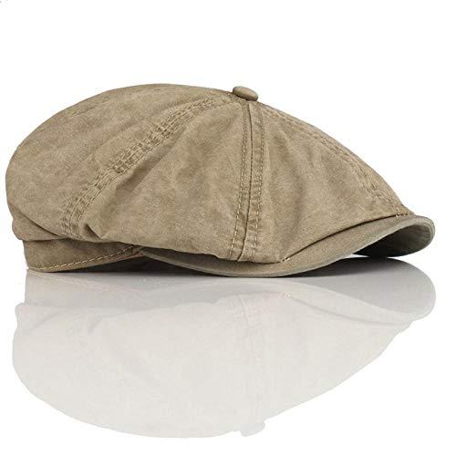 MAOZIm Octagon Hat Hombres y Casual Octogonal Retro Hat Primavera y Verano Boina de Pintor de Mediana Edad