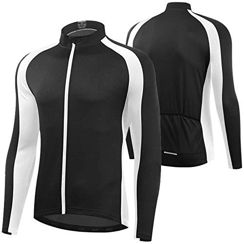 WWAIHY Fahrrad Jacken Herren,Ultraleichte Mountainbike Jacket,Reflektierend Atmungsaktiv Fahrradjacke Herren Sommer,Radjacke Herren,Für MTB Radfahren,Wandern(Size:XXXL,Color:Black)