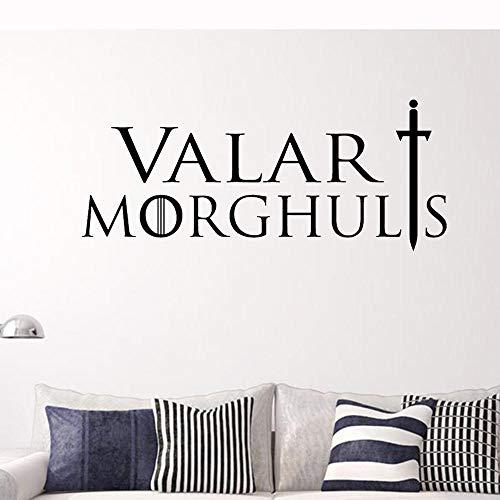 Pegatinas De Pared El Juego Correcto Valar Morghults Mortal Tiene Una Etiqueta De Pared De Rumor Inglés Muerto 57 * 25 Cm