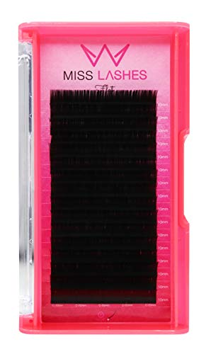 Miss Lashes Cils plats 1:1 Mat 0,20 C 10 mm 32 g