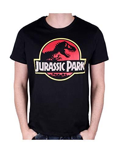 cotton division T-Shirt Jurassic Park, Nero, S Uomo