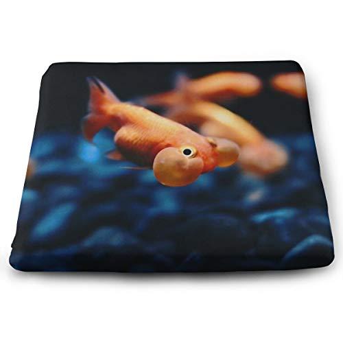 Rückstellschaum-Kissen für Rollstuhl, zur Verbesserung der Körperhaltung, Goldfisch-Hintergrund