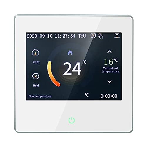 Irishom Termostato Inteligente Wi-Fi,Termostato de Calefacción Eléctrica Programable,Programación de 7 Días,Control de App Remoto y Voz,Compatible con Alexa/Google,Retroiluminación LCD,110-230V