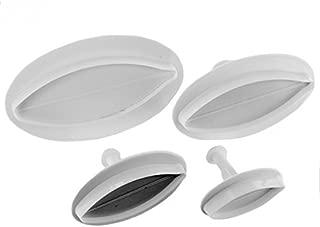 Martellato 40-W049S 4 Piece Lilium Plunger Cutter Set, Plastic, White
