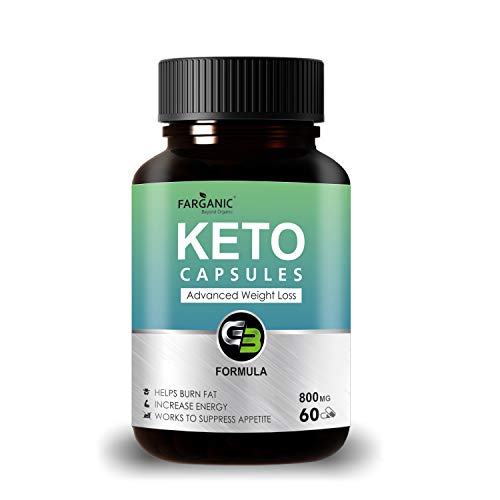 Farganic Keto Capsules for Weight Loss Natural & Advanced Fat Burner Supplement. 60 Capsules.Green...
