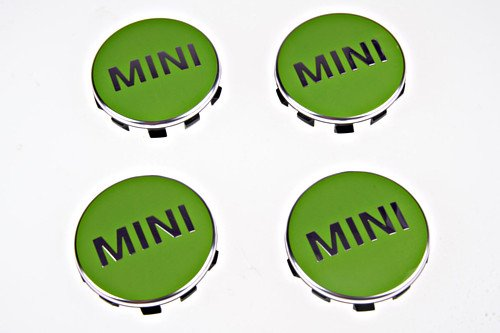 Mini farbigen Radkappen (Set von 4)/Apple grün passt 2014–2015Mini Hardtops