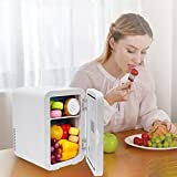 Mini Fridge Compact Refrigerator Portable Thermoelectric Cooler And Warmer (WHITE)