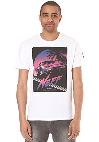 NEFF Men's Joy Ride T-Shirt, White, X-Large