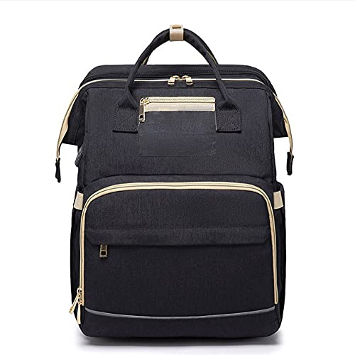 CZFSKCZsjb Escolares Portatil Mochila Mujer, Cama plegable plegable de viaje portátil multifuncional, cuna portátil de la mochila de la bolsa de la bolsa de la bolsa de la momia, cuna portátil para be