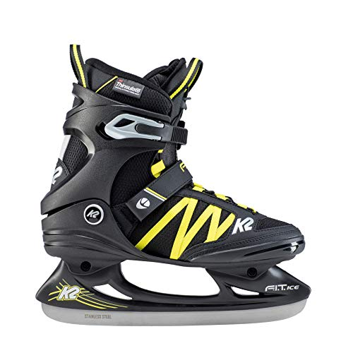 K2 Skates Herren F.I.T. Ice PRO Skates, Schwarz/Blau, 49 EU