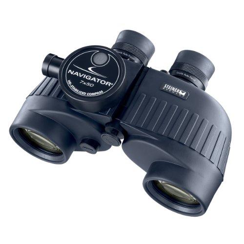 Steiner STN7135 Navigator Jumelles avec étui 7x Auto focus 50 mm Compas Bleu mer