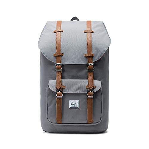 Little America Backpack, Grey/Tan Synthetic Leather Backpack, Einheitsgröße