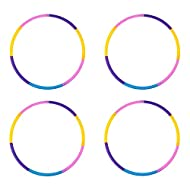 Liberry Kids Hoola Hoop, Detachable Adjustable Plastic Hola Hoop for Kids, Suitable for Beginners and Children Age 2 and Up, Pack of 3