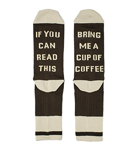 If You Can Read This Novelty Funny Saying Coffee Socks Crew Socks, Gag Coffee Gift for Men