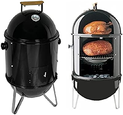 Charcoal Smoke Grill Meat Chicken Hamsausage Cooking BBQ Pation Smooker Cooker (Item#:210042)