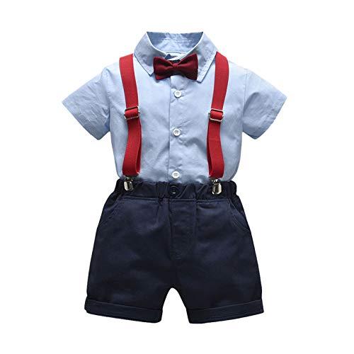 Conjunto de traje niño de 3 Piezas Trajes de Bebés Niños Camisa...