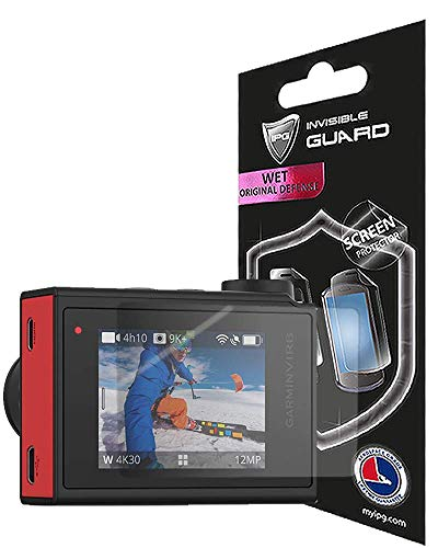 for Garmin Virb Ultra 30 Action Camera (2 Units) Screen Protector with Lifetime Replacement Warranty Invisible Protective Screen Guard - HD Quality/Self-Healing/Bubble -Free by IPG