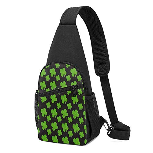 WILHJGH Sling Pack Bag Stained Glass Polygonal Geometric Chest Bag Crossbody Backpack Shoulder Pack Gym Daypack for Men