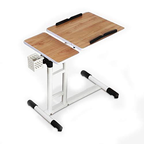 GAOYANG Computertafel nachtkastje, Lazy dienblad nachtkastje, multifunctioneel bureau, heffen en verplaatsen, woonkamer sofa salontafel kant multifunctionele houder, walnoot (grootte: 60-83CM)