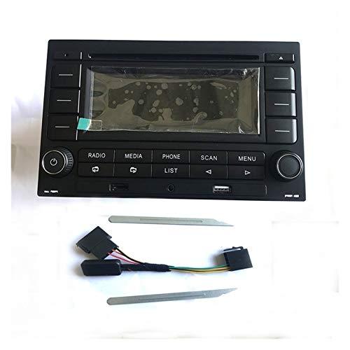 zhuzhu Radio de automóvil RCN210 Reproductor de CD USB MP3 AUX Bluetooth Fit para Golf Mk4 Passat B5 Polo 9N 31G 035 185